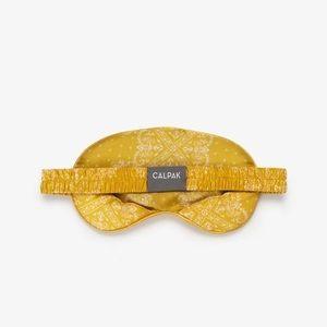 Calpak Yellow Paisley Print Sleep Mask